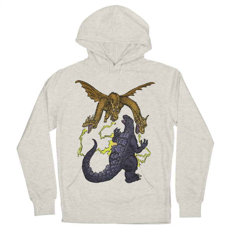 Kaiju Fight Women's French Terry Pullover Hoody by JB Roe Artist Shop