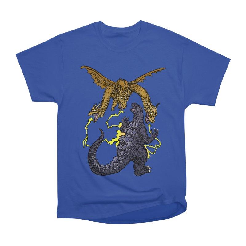 Kaiju Fight Women's Heavyweight Unisex T-Shirt by JB Roe Artist Shop