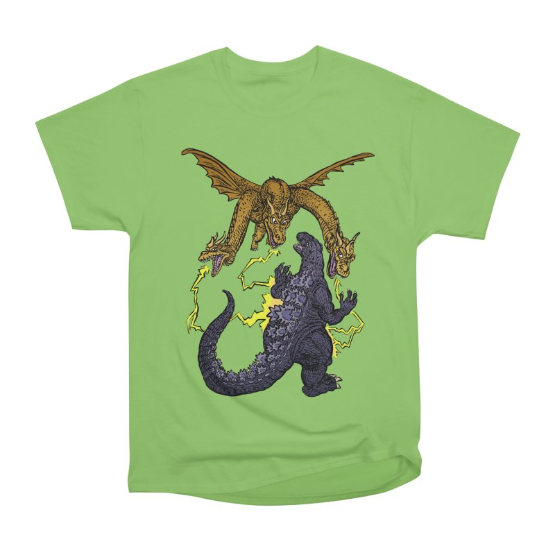 Kaiju Fight Men's Heavyweight T-Shirt by JB Roe Artist Shop