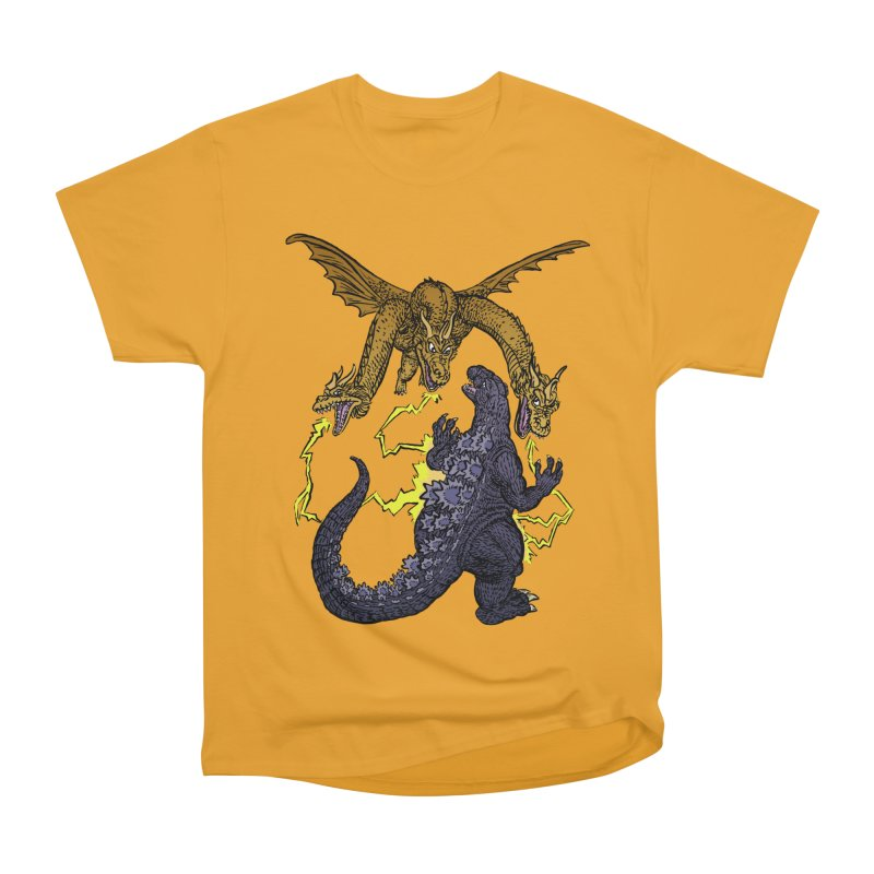 Kaiju Fight Men's Heavyweight T-Shirt by JB Roe Artist Shop