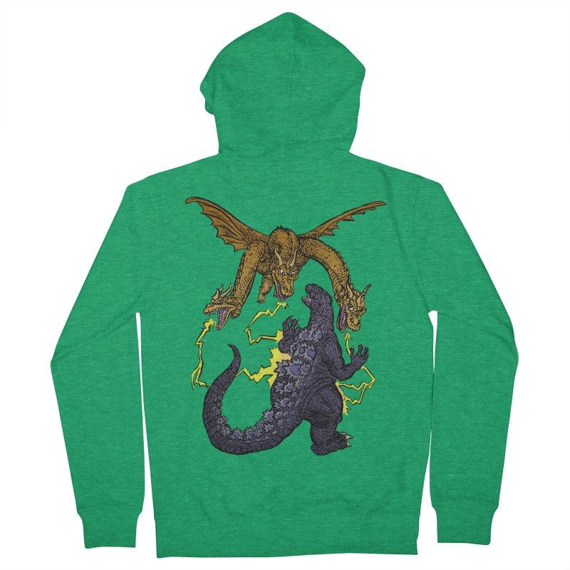 Kaiju Fight Women's Zip-Up Hoody by JB Roe Artist Shop