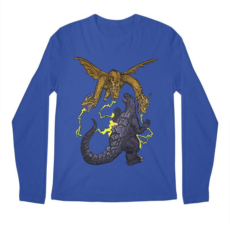 Kaiju Fight Men's Regular Longsleeve T-Shirt by JB Roe Artist Shop