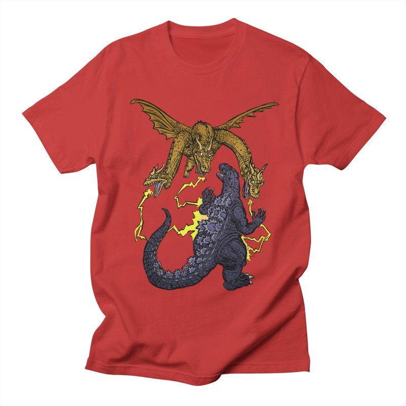 Kaiju Fight Women's Regular Unisex T-Shirt by JB Roe Artist Shop