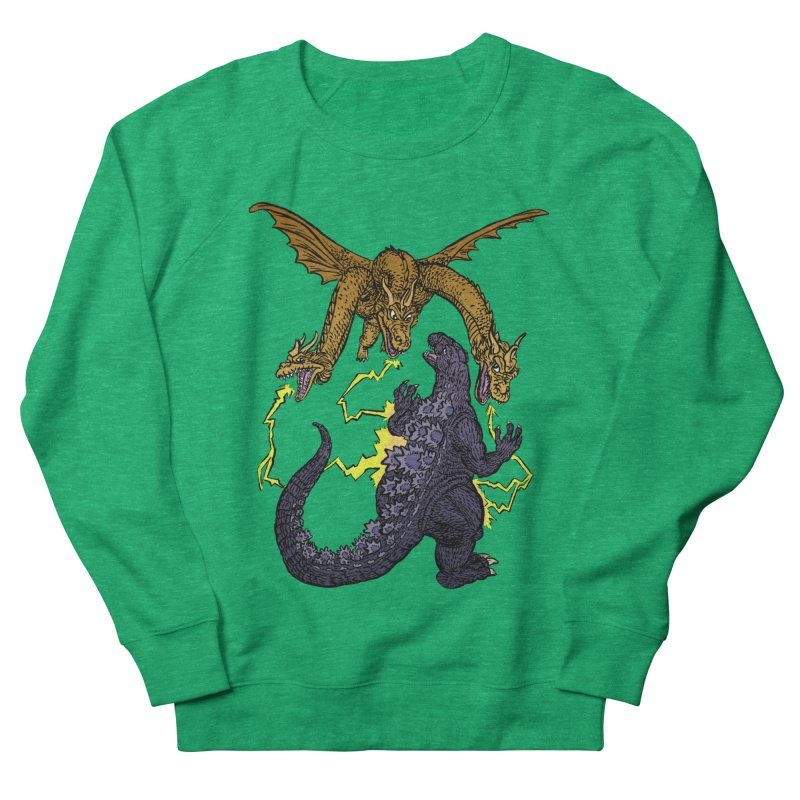 Kaiju Fight Women's French Terry Sweatshirt by JB Roe Artist Shop
