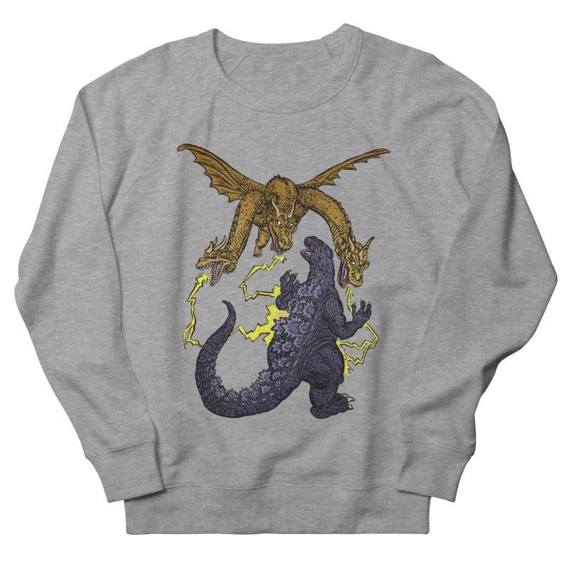 Kaiju Fight Women's French Terry Sweatshirt by JB Roe Artist Shop