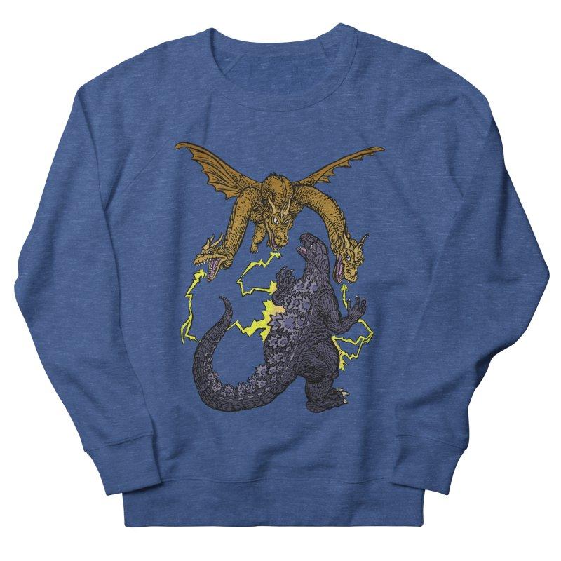 Kaiju Fight Men's French Terry Sweatshirt by JB Roe Artist Shop