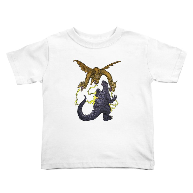 Kaiju Fight Kids Toddler T-Shirt by JB Roe Artist Shop