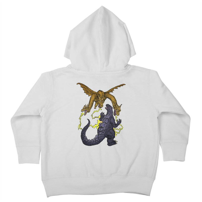 Kaiju Fight Kids Toddler Zip-Up Hoody by JB Roe Artist Shop