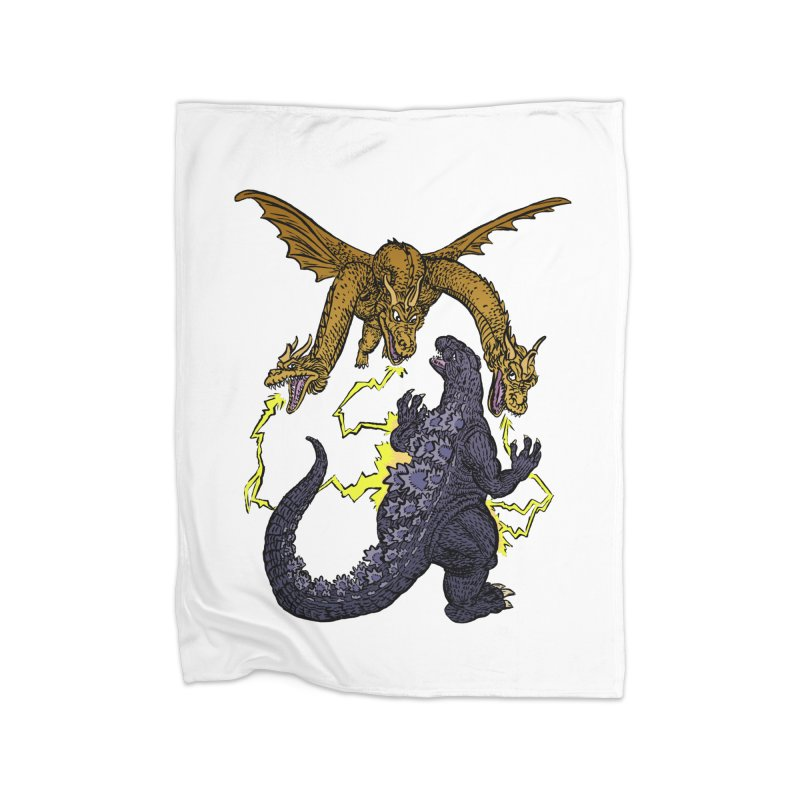 Kaiju Fight Home Blanket by JB Roe Artist Shop