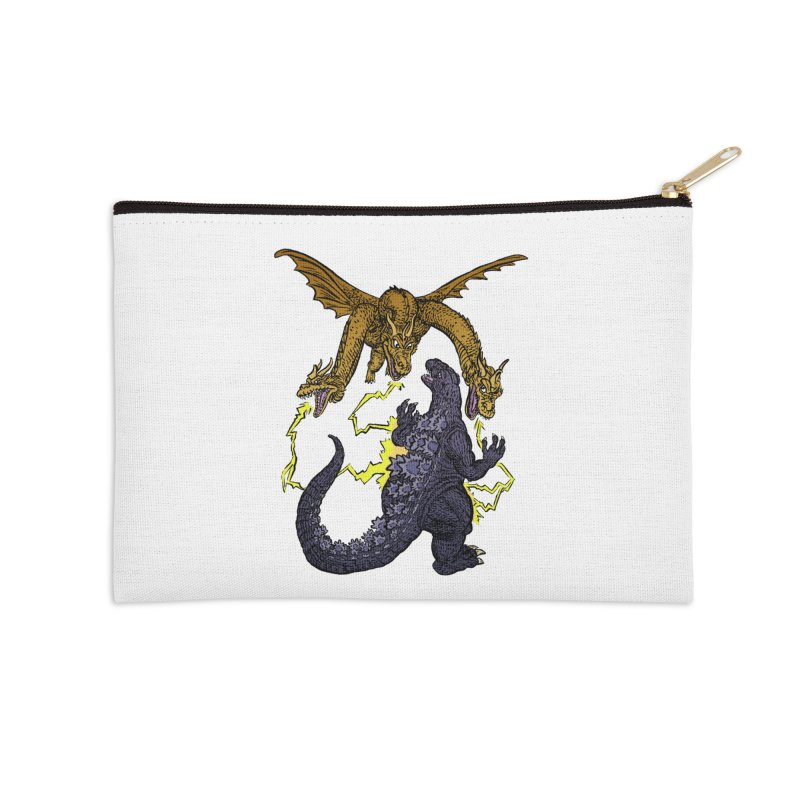 Kaiju Fight Accessories Zip Pouch by JB Roe Artist Shop