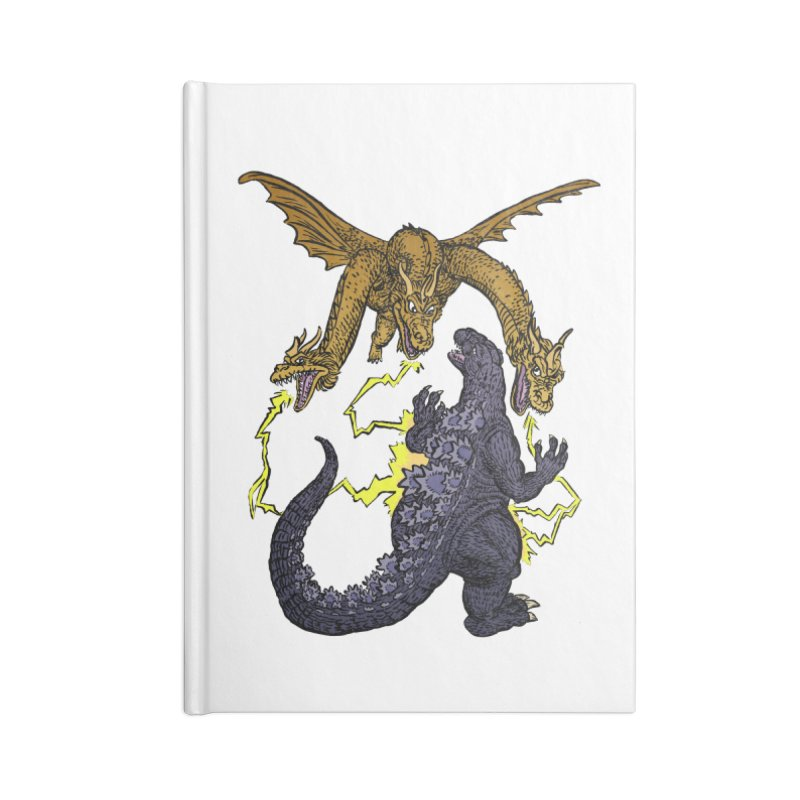 Kaiju Fight Accessories Lined Journal Notebook by JB Roe Artist Shop