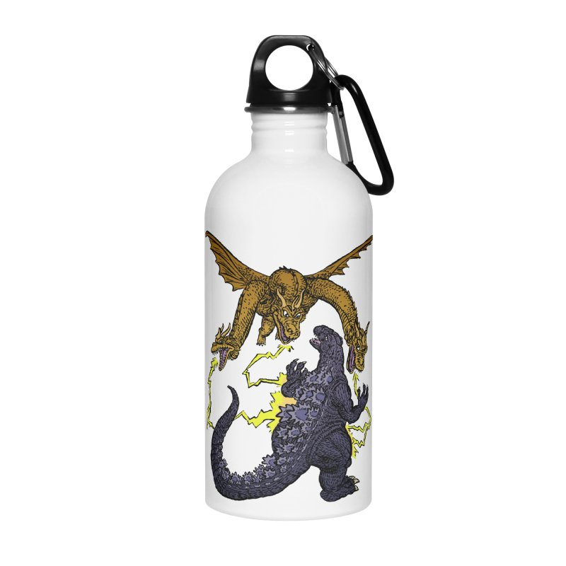 Kaiju Fight Accessories Water Bottle by JB Roe Artist Shop