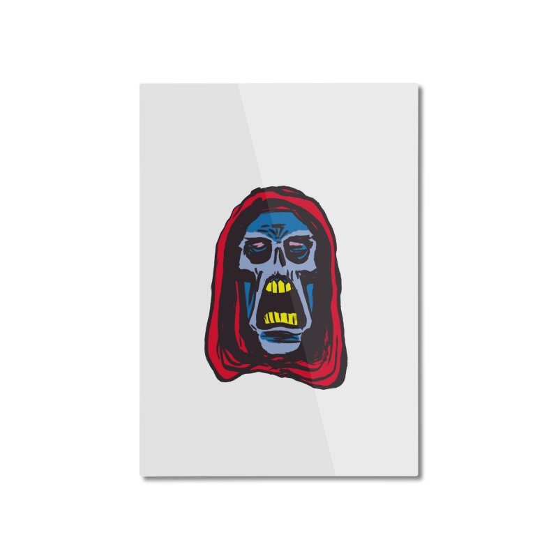 Ghoul Home Mounted Aluminum Print by JB Roe Artist Shop