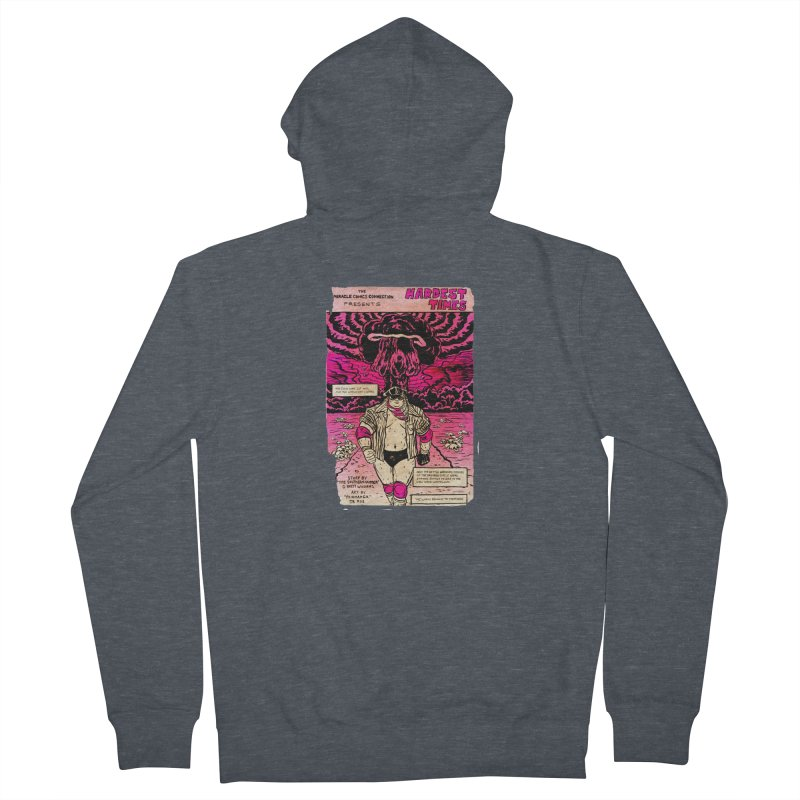 Hardest Times Women's French Terry Zip-Up Hoody by JB Roe Artist Shop