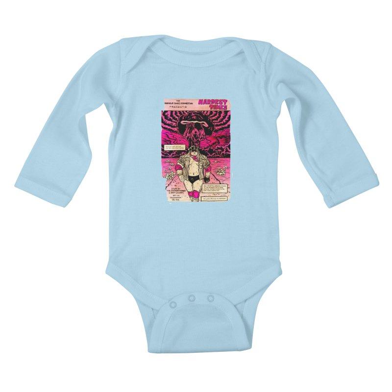 Hardest Times Kids Baby Longsleeve Bodysuit by JB Roe Artist Shop