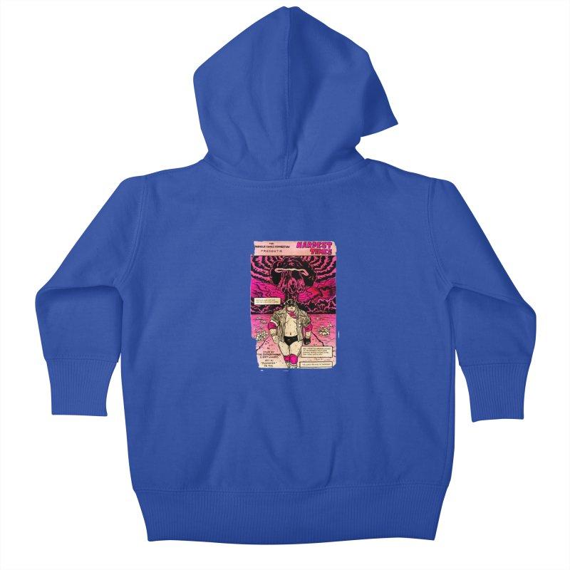 Hardest Times Kids Baby Zip-Up Hoody by JB Roe Artist Shop