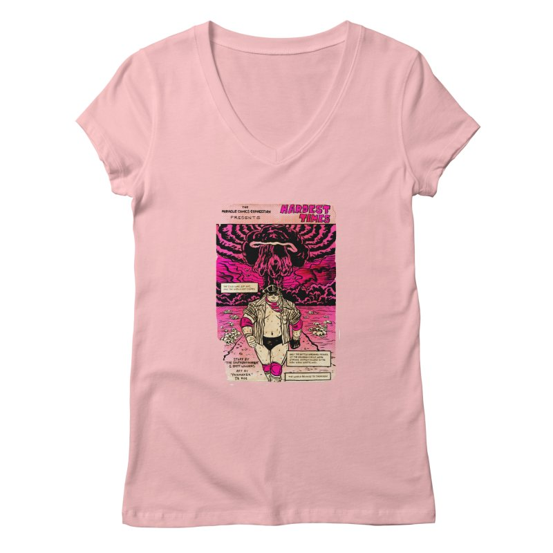 Hardest Times Women's Regular V-Neck by JB Roe Artist Shop