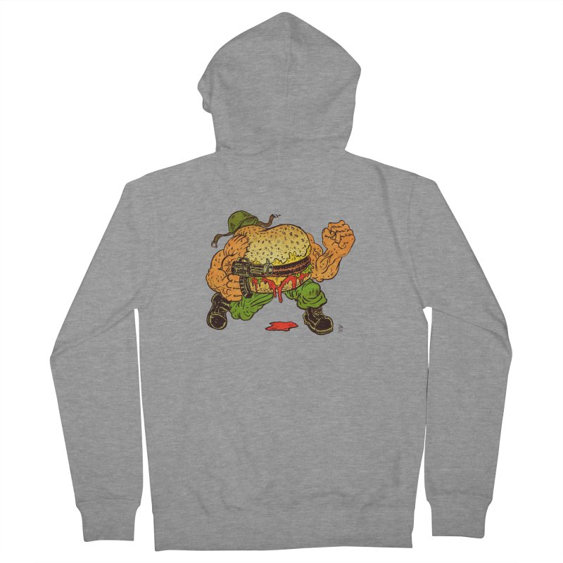 Sgt Angus Women's French Terry Zip-Up Hoody by JB Roe Artist Shop