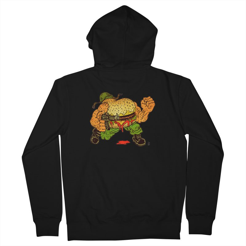 Sgt Angus Men's French Terry Zip-Up Hoody by JB Roe Artist Shop