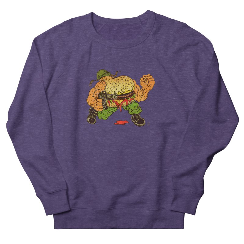 Sgt Angus Men's French Terry Sweatshirt by JB Roe Artist Shop