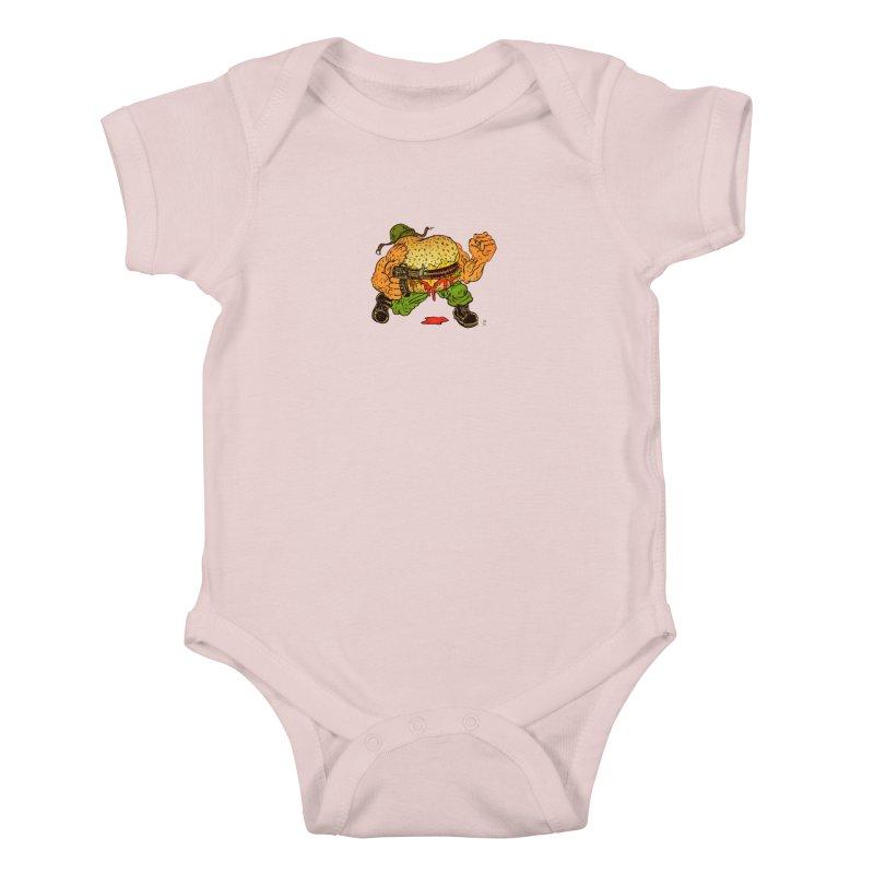 Sgt Angus Kids Baby Bodysuit by JB Roe Artist Shop