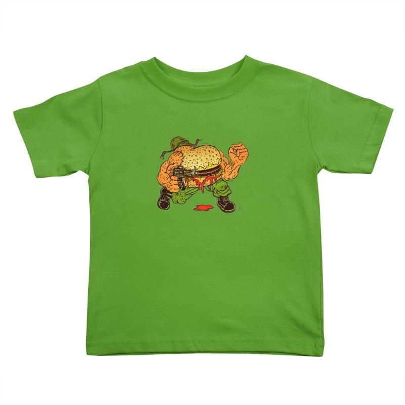 Sgt Angus Kids Toddler T-Shirt by JB Roe Artist Shop