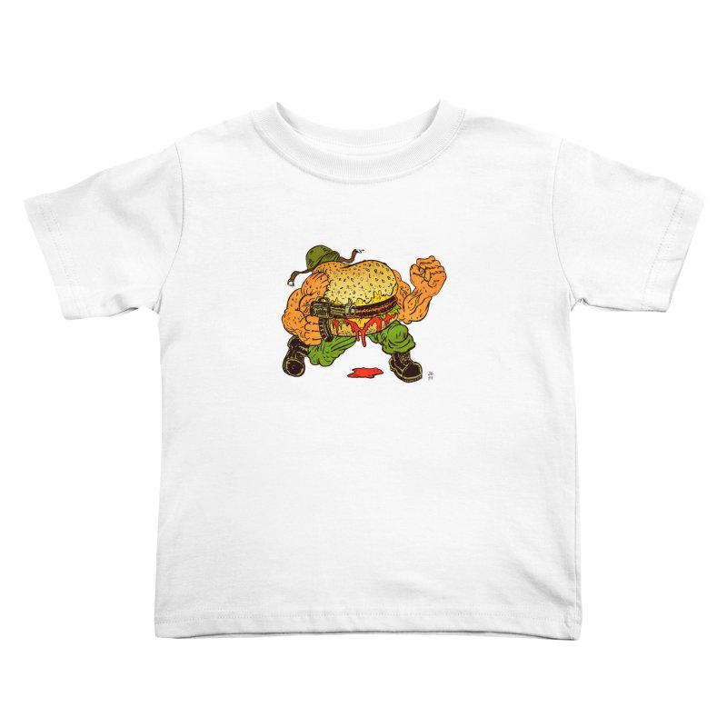 Sgt Angus Kids Toddler T-Shirt by JB Roe Artist Shop