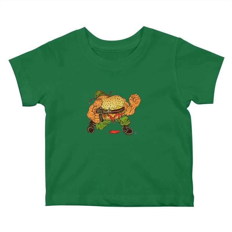 Sgt Angus Kids Baby T-Shirt by JB Roe Artist Shop