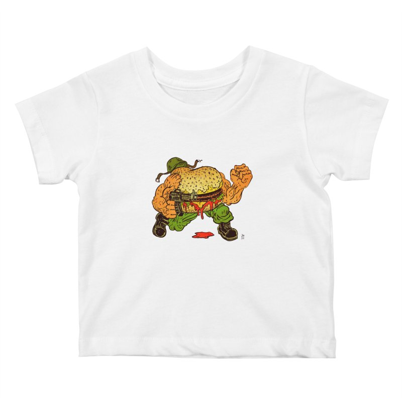 Sgt Angus Kids Baby T-Shirt by JB Roe Artist Shop