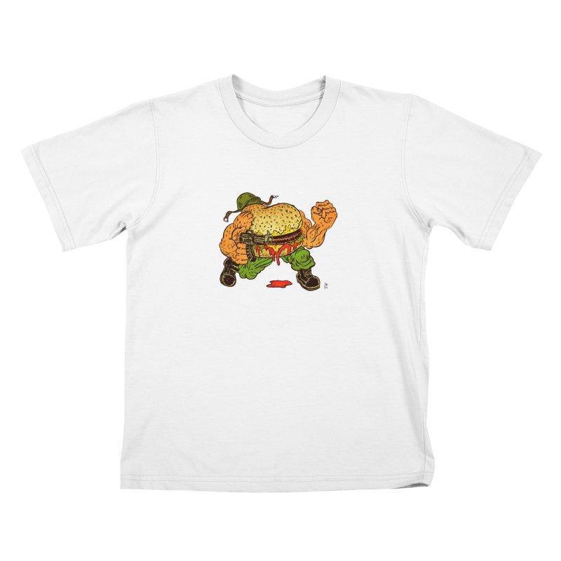 Sgt Angus Kids T-Shirt by JB Roe Artist Shop