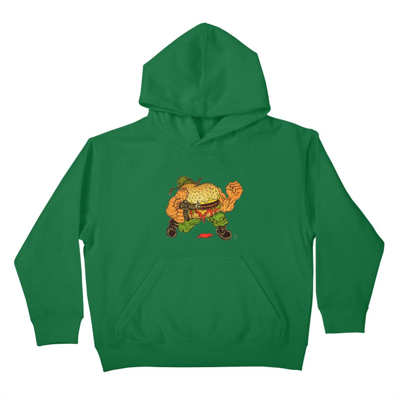 Sgt Angus Kids Pullover Hoody by JB Roe Artist Shop