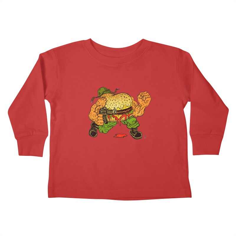 Sgt Angus Kids Toddler Longsleeve T-Shirt by JB Roe Artist Shop