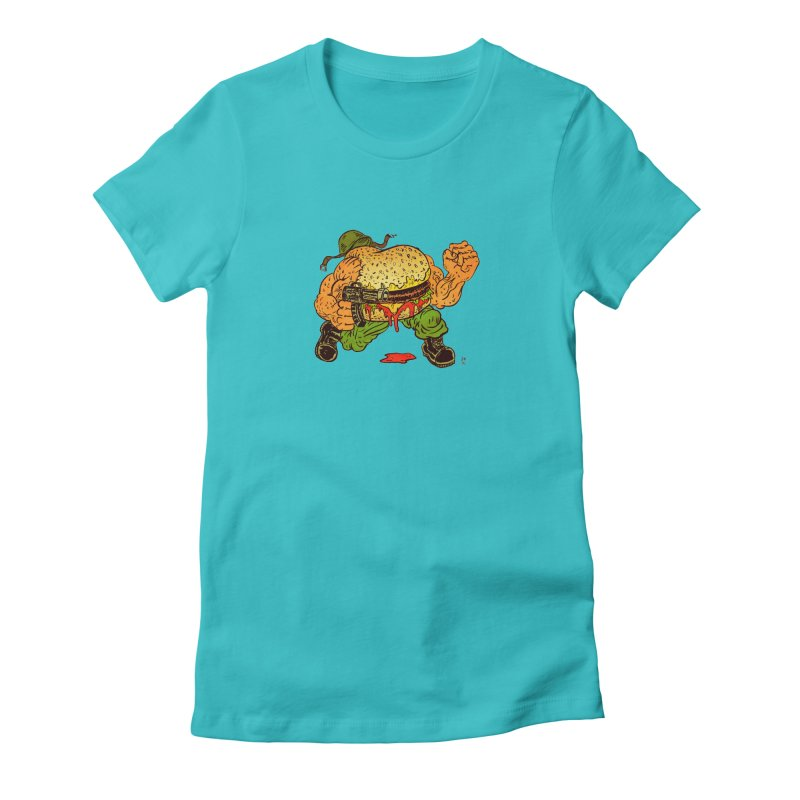 Sgt Angus Women's Fitted T-Shirt by JB Roe Artist Shop