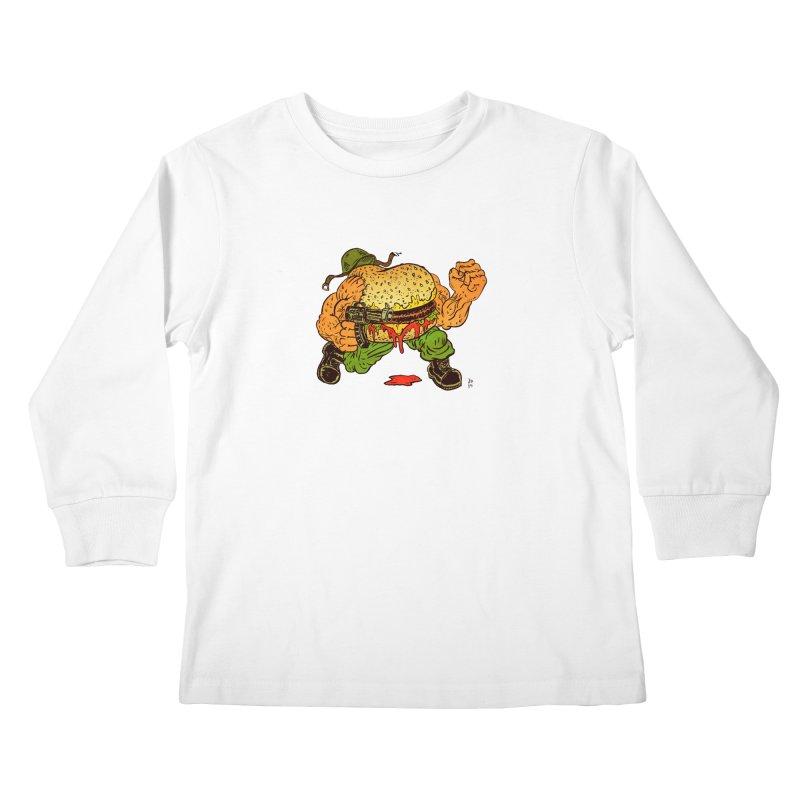 Sgt Angus Kids Longsleeve T-Shirt by JB Roe Artist Shop