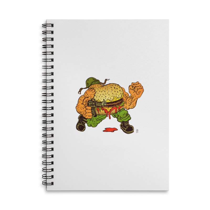 Sgt Angus Accessories Lined Spiral Notebook by JB Roe Artist Shop