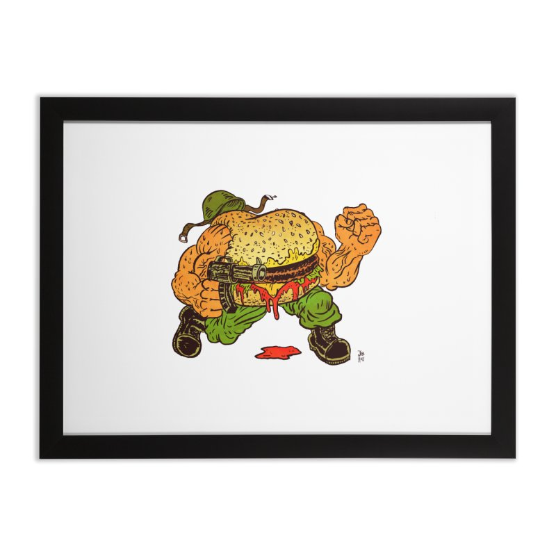 Sgt Angus Home Framed Fine Art Print by JB Roe Artist Shop