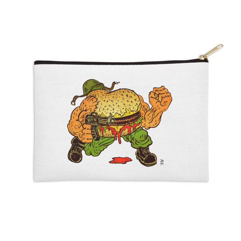Sgt Angus Accessories Zip Pouch by JB Roe Artist Shop