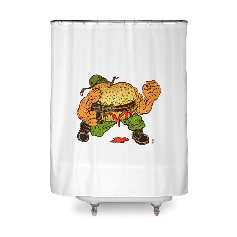 Sgt Angus Home Shower Curtain by JB Roe Artist Shop
