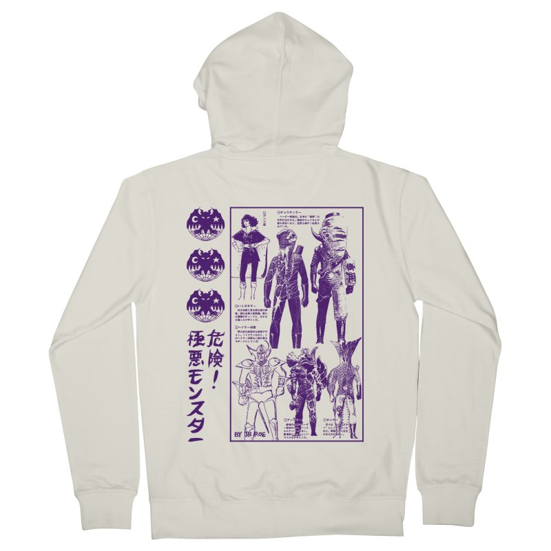 Danger! Villainous Monster! Women's French Terry Zip-Up Hoody by JB Roe Artist Shop