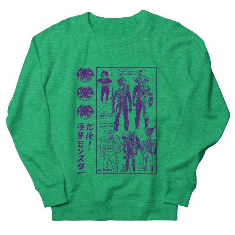 Danger! Villainous Monster! Men's French Terry Sweatshirt by JB Roe Artist Shop