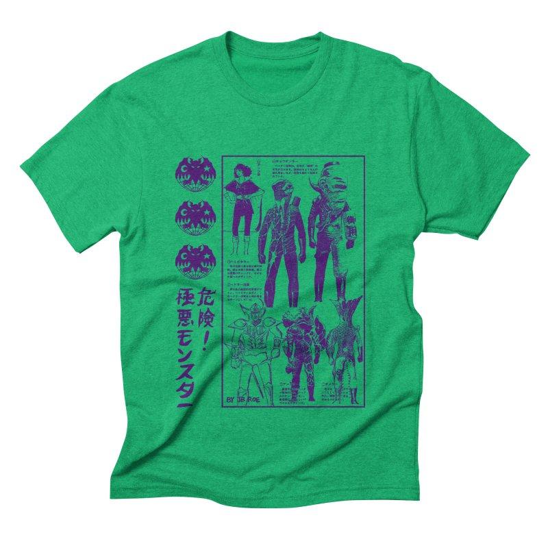 Danger! Villainous Monster! Men's Triblend T-Shirt by JB Roe Artist Shop