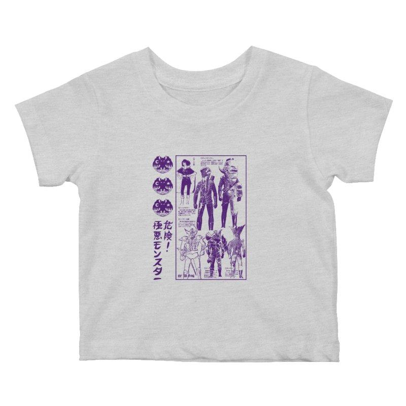 Danger! Villainous Monster! Kids Baby T-Shirt by JB Roe Artist Shop