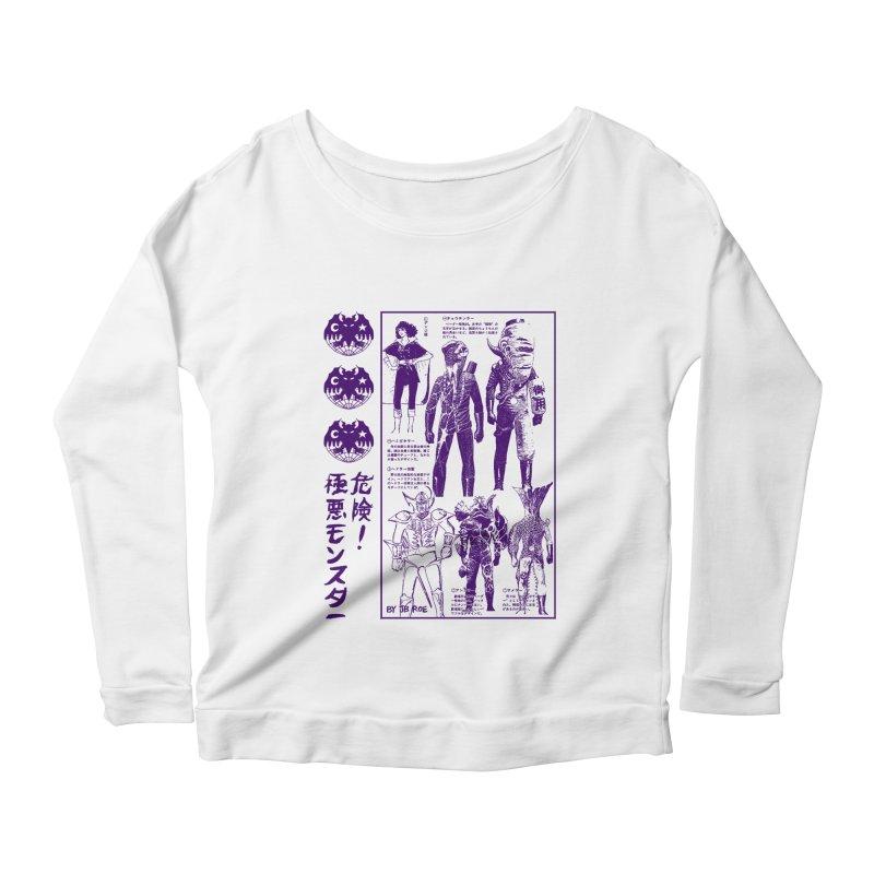 Danger! Villainous Monster! Women's Scoop Neck Longsleeve T-Shirt by JB Roe Artist Shop
