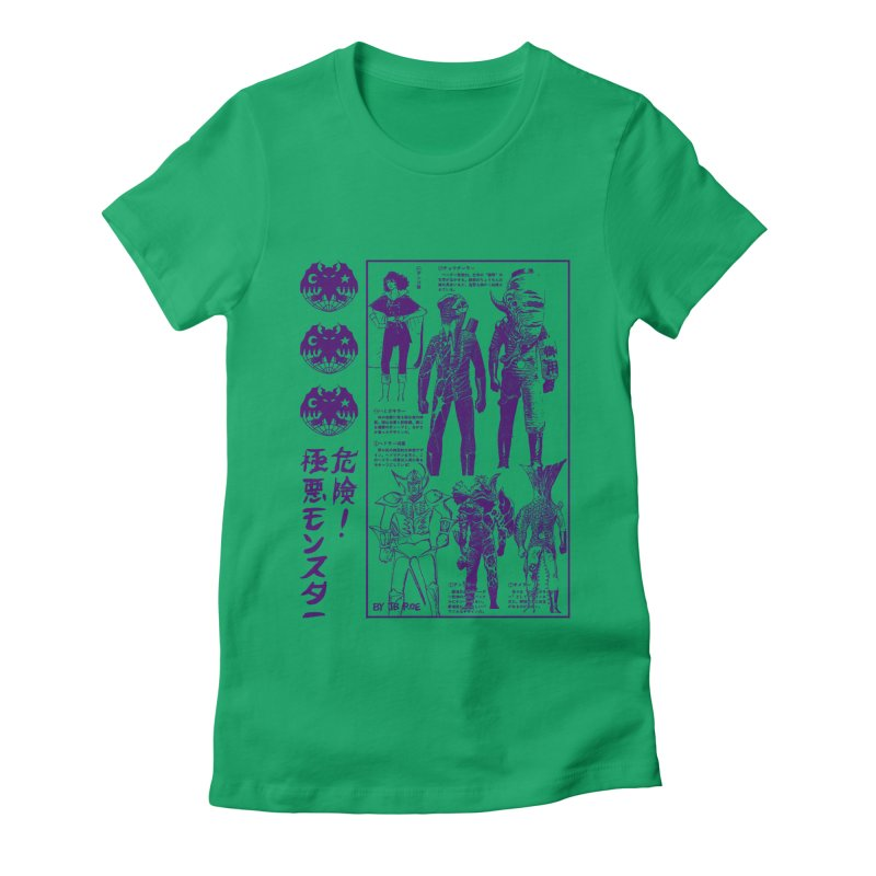 Danger! Villainous Monster! Women's Fitted T-Shirt by JB Roe Artist Shop