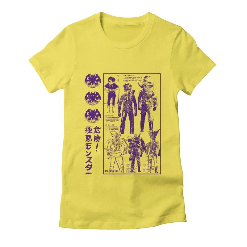 Danger! Villainous Monster! Women's T-Shirt by JB Roe Artist Shop