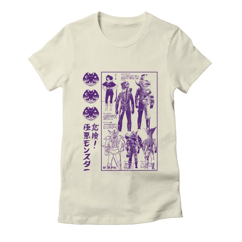 Danger! Villainous Monster! Women's Fitted T-Shirt by JB Roe Artist Shop