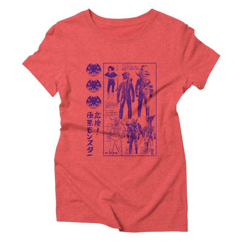 Danger! Villainous Monster! Women's Triblend T-Shirt by JB Roe Artist Shop