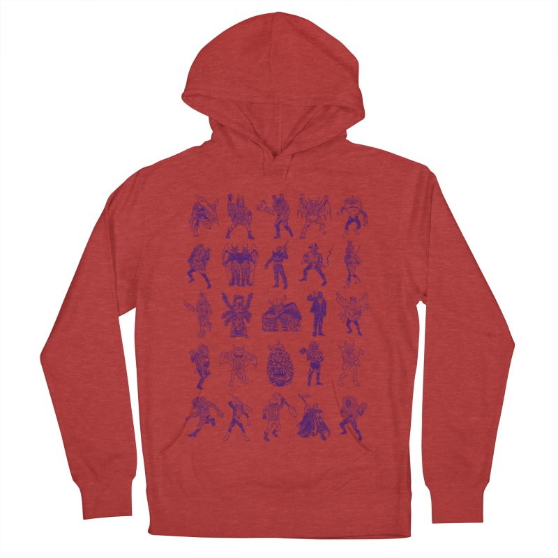 Toku Villains Men's French Terry Pullover Hoody by JB Roe Artist Shop