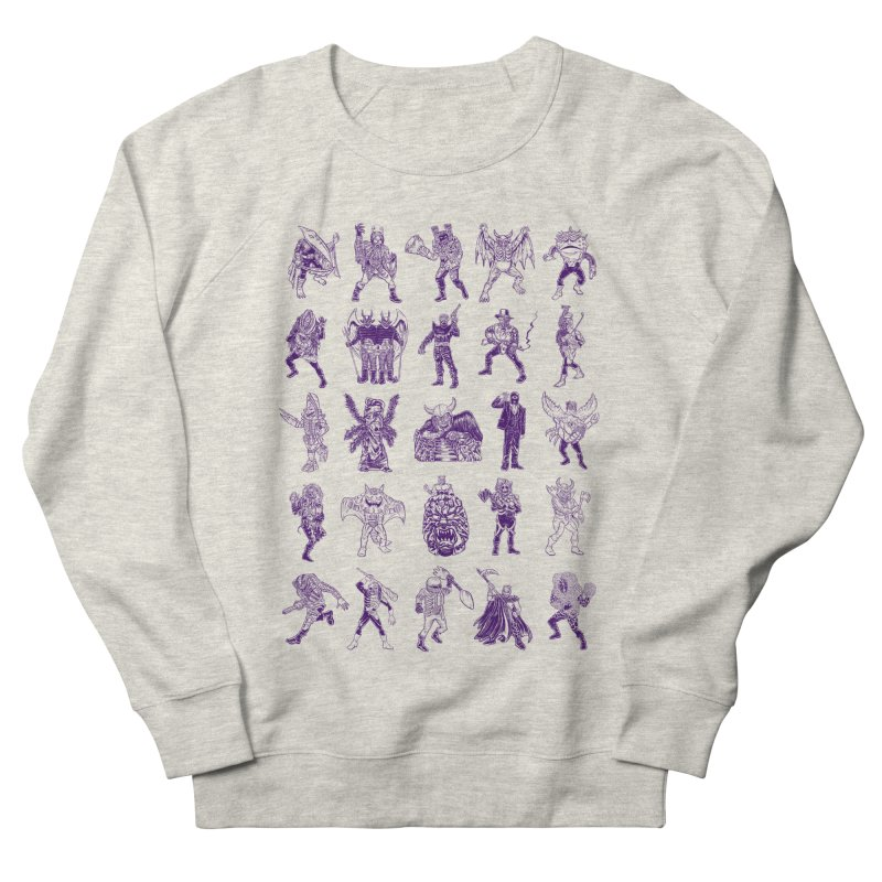 Toku Villains Men's French Terry Sweatshirt by JB Roe Artist Shop