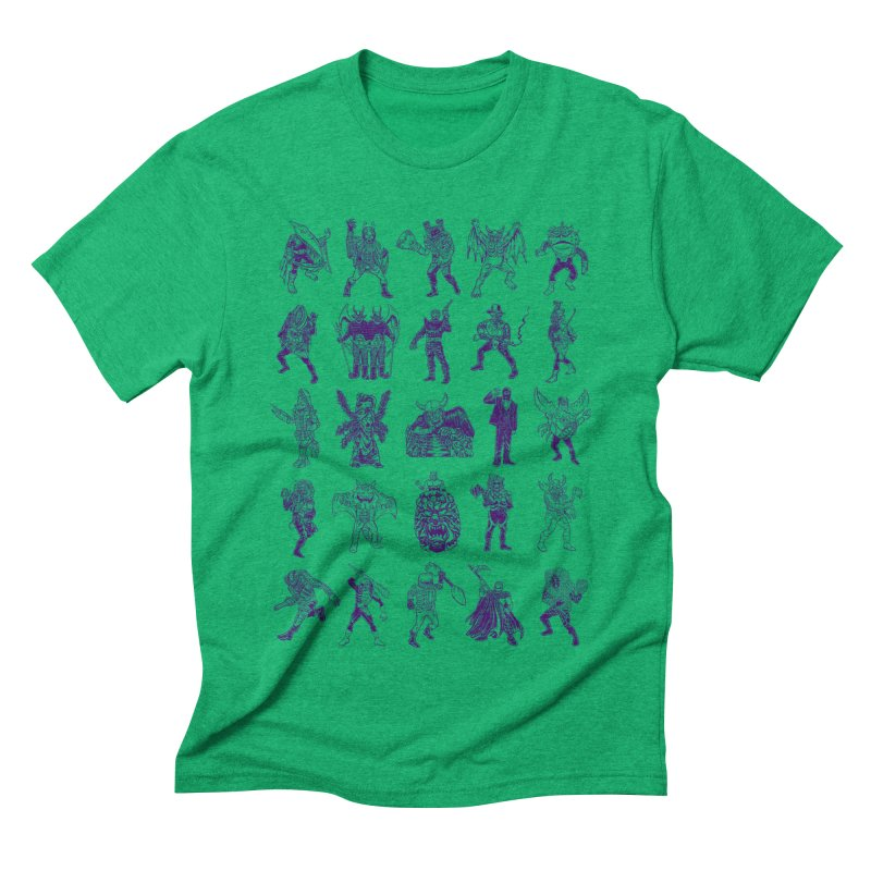 Toku Villains Men's Triblend T-Shirt by JB Roe Artist Shop
